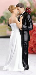 Beach Caucasian Couple Figurine Cake Topper