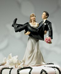 Funny Cake Topper Bride Carrying Groom topper
