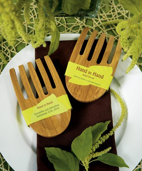 """Hand in Hand\"" Bamboo Server Set"