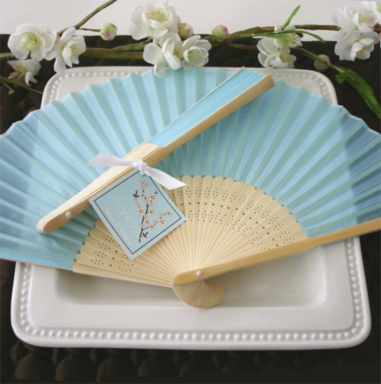 Silk Fan - Blue 1014