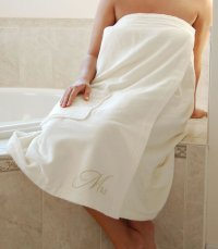 Ivory or White Mrs. Bath Wrap