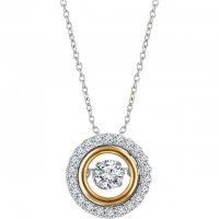 "14K White & Yellow 1/2 CTW Diamond 16-18"" Mystara® Necklace"