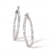 CZ Hoop Earrings Wedding Jewelry