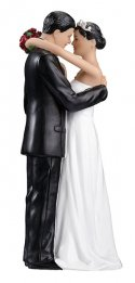 Hispanic Couple Figurine Cake Topper