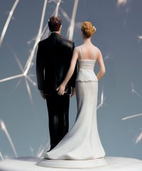 Funny Love Pinching Wedding Cake topper