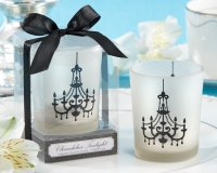 Chandelier Frosted-Glass Tealight Holder (Set of Four)