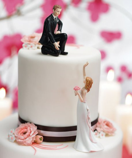 Pick Bride /or Groom Reaching Funny Cake Topper