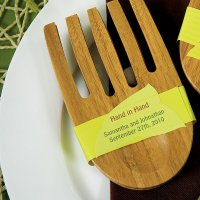 """Hand in Hand"" Bamboo Server Set Tag"