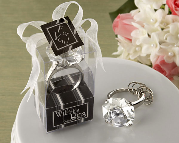 Engagement Ring Keychain -