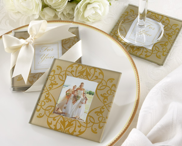 Elegant Glass Photo Coasters -