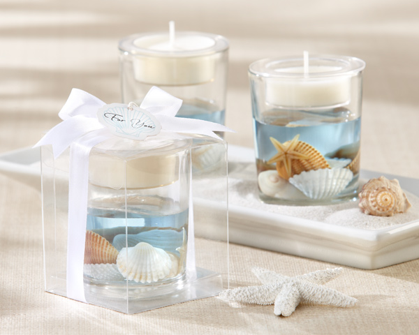 """Seashell\"" Gel Tealight Holder"