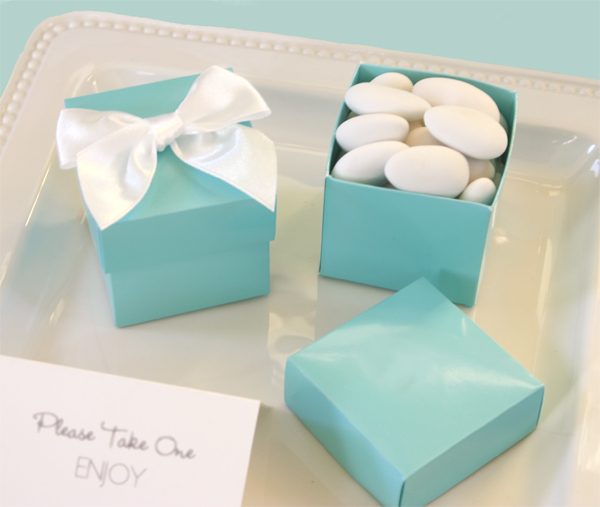 Mini Cube Boxes - Aqua Blue (set of 12) 1035 bl
