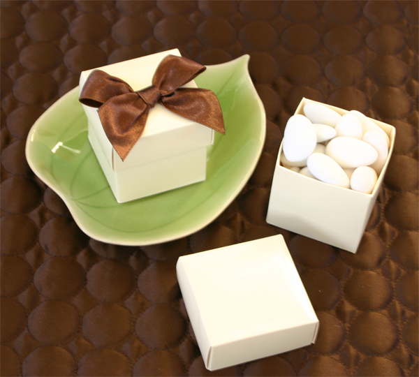 Mini Cube Boxes - Ivory (set of 12)